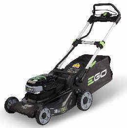 Ego LM2024E lawn mower viewed from the side