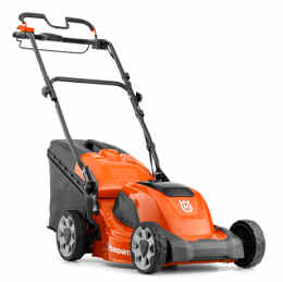 Husqvarna LC141VL1 lawn mower viewed from the side
