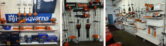AM Rentals chainsaw display