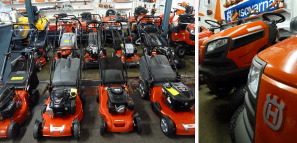 AM Rentals mower display